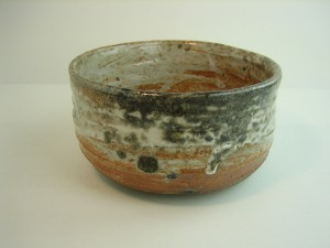 Carbon trapped shino teabowl