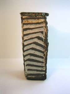 Black clay vase