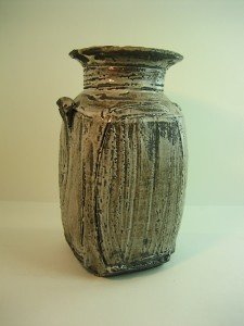 Black clay jar