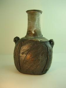 Black clay bottle